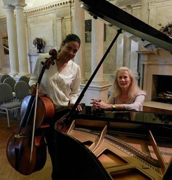 Cellist Astrid Schween & pianist Estela Olevsky.