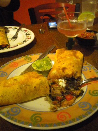 Burritos at Desperados in North Adams are humungous. You can get at least two meals out of one.