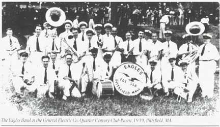The Eagles Band circa 1939. [Photo via Discover Pittsfield]