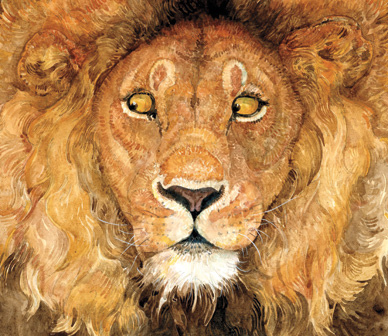 Illustration from Jerry Pinkney's The Lion and the Mouse (2009).