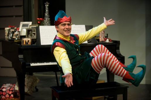 Peter Davenport as Crumpet the Elf. [photo by Kevin Sprague]